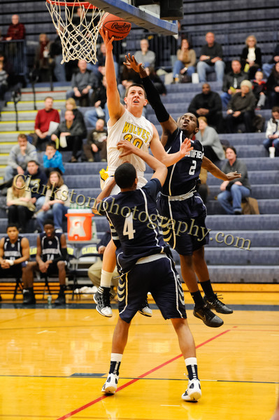 2011-12 Clarkston Varsity Basketball vs Southfield image 089