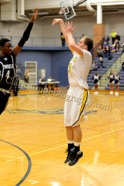 2011-12 Clarkston Varsity Basketball vs Southfield image 245