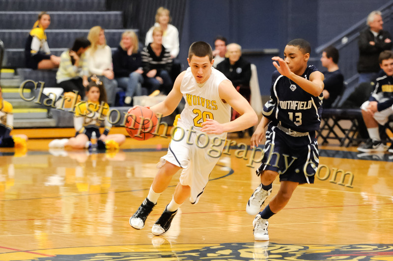 2011-12 Clarkston Varsity Basketball vs Southfield image 053