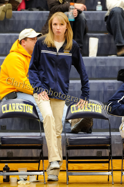2011-12 Clarkston Varsity Basketball vs Southfield image 269