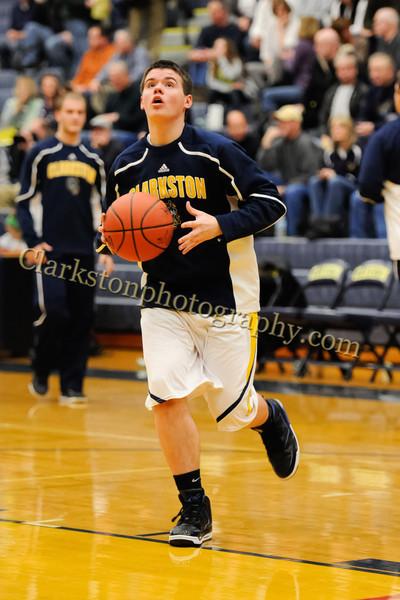 2011-12 Clarkston Varsity Basketball vs Southfield image 015