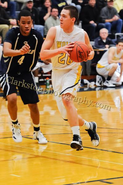 2011-12 Clarkston Varsity Basketball vs Southfield image 305