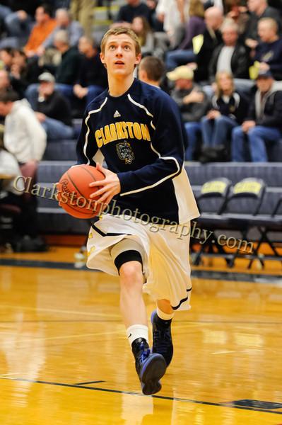 2011-12 Clarkston Varsity Basketball vs Southfield image 024