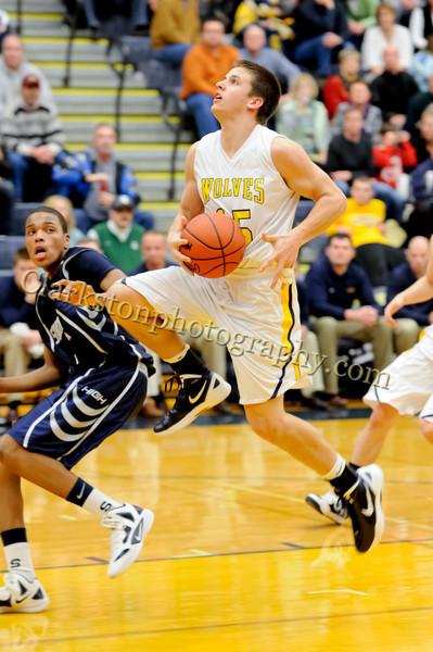 2011-12 Clarkston Varsity Basketball vs Southfield image 240