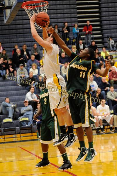 2011-12 Clarkston Varsity Basketball vs  FHH image 128
