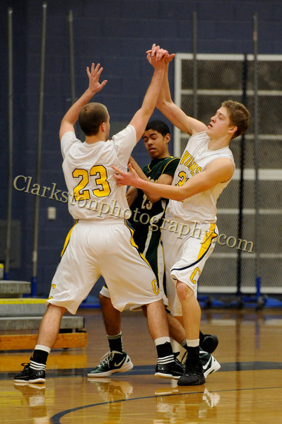2011-12 Clarkston Varsity Basketball vs  FHH image 156