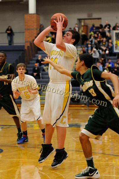 2011-12 Clarkston Varsity Basketball vs  FHH image 243