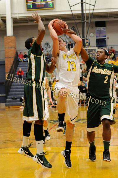 2011-12 Clarkston Varsity Basketball vs  FHH image 047