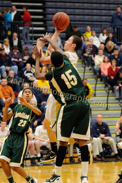 2011-12 Clarkston Varsity Basketball vs  FHH image 122