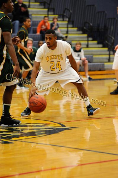 2011-12 Clarkston Varsity Basketball vs  FHH image 153