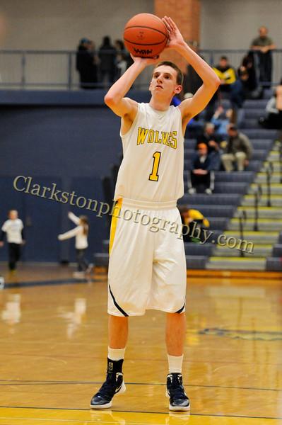2011-12 Clarkston Varsity Basketball vs  FHH image 195