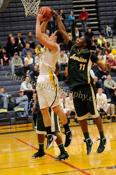 2011-12 Clarkston Varsity Basketball vs  FHH image 127
