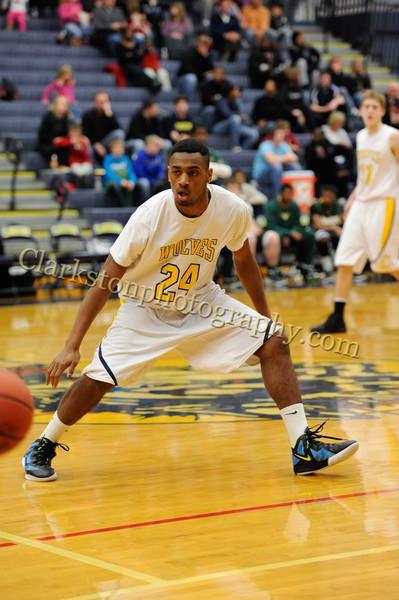 2011-12 Clarkston Varsity Basketball vs  FHH image 162