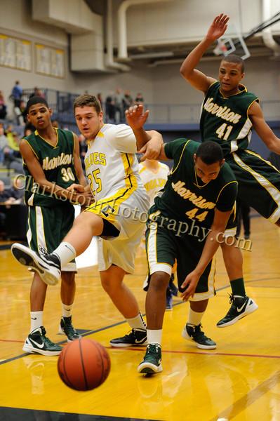 2011-12 Clarkston JV Basketball vs  FHH image 015