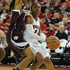 Georgia's Khaalidah Miller (1) looks to shoot the ball during an SEC basketball game against Texas A&M on Sunday, January 12, 2014 in Stegeman Coliseum. (Photo by Sean Taylor)