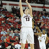 Georgia's Merritt Hempe (13) shoots the ball during an SEC basketball game against the Texas A&M Aggies on Sunday, January 12, 2014 in Athens, Ga. (Photo by Sean Taylor)