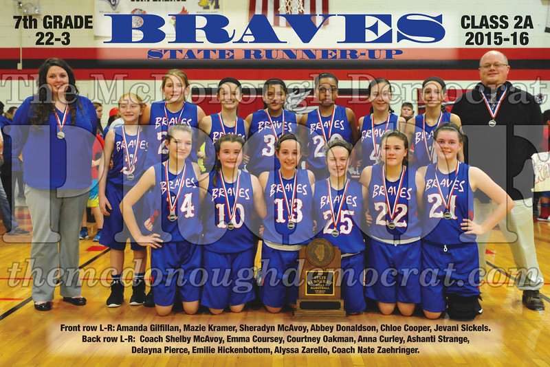 7th grade girls-2nd place State poster