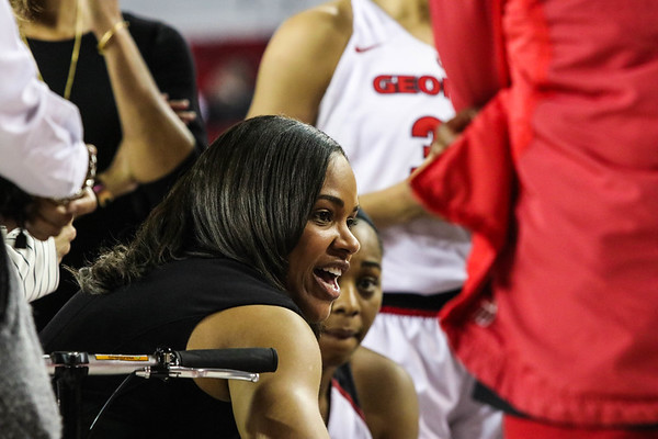 Georgia head coach Joni Taylor during the Bulldogs' game against Alabama at Stegeman Coliseum in Athens, Ga., on Thursday, February 23, 2017. (Photo by Cory A. Cole)