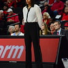 Georgia head coach Joni Taylor during the Lady Bulldogs' game against Tennessee Tech at Stegeman Coliseum in Athens, Ga. on Monday, Nov. 27, 2017. (Photo by Caitlyn Tam)