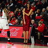 Georgia head coach Joni Taylor and guard Que Morrison (23) during the Lady Bulldogs' game against Furman at Stegeman Coliseum in Athens, Ga. on Thursday, Nov. 30, 2017. (Photo by Caitlyn Tam)