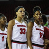 Georgia's Mackenzie Engram (33) and Pachis Roberts (11) during the Bulldogs' game against Alabama at Stegeman Coliseum in Athens, Ga., on Thursday, February 23, 2017. (Photo by Cory A. Cole)