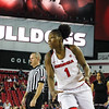 Georgia's Shanea Armbrister (1) during the Bulldogs' game against Alabama at Stegeman Coliseum in Athens, Ga., on Thursday, February 23, 2017. (Photo by Cory A. Cole)