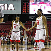 Georgia's Pachis Roberts (11) and Halle Washington (23) during the Bulldogs' game against Alabama at Stegeman Coliseum in Athens, Ga., on Thursday, February 23, 2017. (Photo by Cory A. Cole)