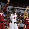 Georgia's Caliya Robinson (4) during the Bulldogs' game against Alabama at Stegeman Coliseum in Athens, Ga., on Thursday, February 23, 2017. (Photo by Cory A. Cole)