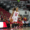 Georgia guard Haley Clark (12) during the Lady Bulldogs' game with BYU at Stegeman Coliseum in Athens, Ga., on Wednesday, Nov. 16, 2016. (Photo by John Paul Van Wert)