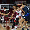 Georgia forward Mackenzie Engram (33) during the Lady Bulldogs' game with BYU at Stegeman Coliseum in Athens, Ga., on Wednesday, Nov. 16, 2016. (Photo by John Paul Van Wert)