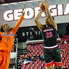 Georgia forward Halle Washington (23) during the Lady Bulldogs' game with Florida at Stegeman Coliseum in Athens, Ga., on Sunday, Jan. 22, 2017. (Photo by John Paul Van Wert)