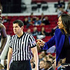 Georgia head coach Joni Taylor and forward Stephanie Paul (3) during the Lady Bulldogs' game with Florida at Stegeman Coliseum in Athens, Ga., on Sunday, Jan. 22, 2017. (Photo by John Paul Van Wert)