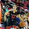 Georgia guard Simone Costa (24) during the Lady Bulldogs' game with Florida at Stegeman Coliseum in Athens, Ga., on Sunday, Jan. 22, 2017. (Photo by John Paul Van Wert)