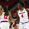 Georgia forward Caliya Robinson (4) during the Lady Bulldogs' game with Mercer at Stegeman Coliseum in Athens, Ga., on Sunday, Nov. 13, 2016. (Photo by Cory A. Cole)