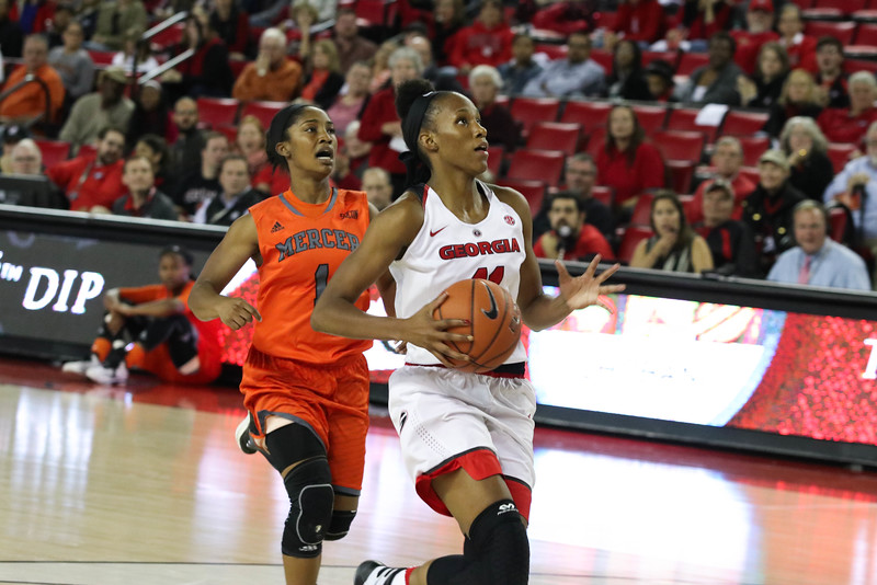 Georgia guard/forward Pachis Roberts (11) during the Lady Bulldogs' game with Mercer at Stegeman Coliseum in Athens, Ga., on Sunday, Nov. 13, 2016 (Photo by Cory A. Cole / Georgia Sports Communications)