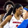 Georgia guard/forward Pachis Roberts (11) and forward Caliya Robinson (4) during the Lady Bulldogs' game against Kentucky at Stegemen Coliseum in Athens, Ga., on Thursday, February 9, 2017. (Photo by John Paul Van Wert)