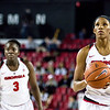 Georgia guard/forward Pachis Roberts (11) and forward Stephanie Paul (3) during the Lady Bulldogs' game against Kentucky at Stegemen Coliseum in Athens, Ga., on Thursday, February 9, 2017. (Photo by John Paul Van Wert)