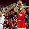 Georgia forward Mackenzie Engram (33) during the Lady Bulldogs' game with South Carolina at Stegeman Coliseum in Athens, Ga., on Thursday, Jan. 26, 2017. (Photo by John Paul Van Wert)