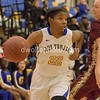 Gaithersburg's Jordan Odomm drives the sideline towards the lane.