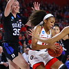 Georgia guard Haley Clark (12) during the Lady Bulldogs' NCAA tournament game against Duke at Stegeman Coliseum in Athens, Ga. on Saturday, March 19, 2018. (Photo by Steffenie Burns)
