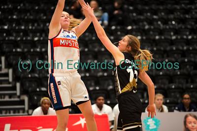 Newcastle Eagles v Manchester Mystics, Women's British Basketball League Cup Quarter Final, Eagles Community Arena, Newcastle, England