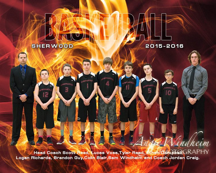 Reed Basketball 2016 Team 8x10