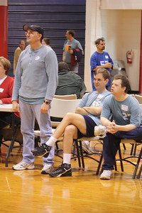 Steve, David and Brandon look on as their team, the T-Birds work out their plays.