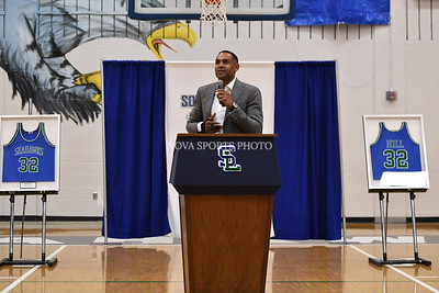 Boys Basketball: South Lakes retires Grant Hill's jersey 12/1/17