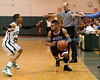 Mastic Beach NY: William Floyd and Bay Shore  compete in the first round of the Suffolk County High School Boys Basketball Class AA Playoffs. William Floyd defeated Bay Shore by a score of 53-52. (Feb. 15, 2013)<br /> Photo by Daniel De Mato