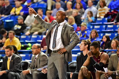 Head Coach Earl Grant directs play in the second half against Delaware