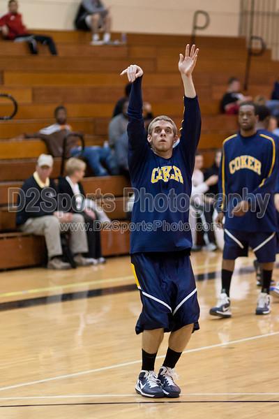 Coker Cobras vs Pfeiffer Falcons Men's Basketball<br /> Wednesday, January 26, 2011 at Pfeiffer University<br /> Misenheimer, NC<br /> (file 191839_QE6Q2474_1D2N)