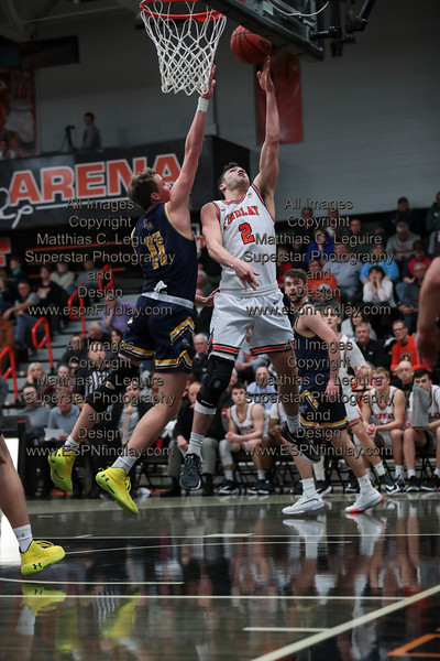 UF's Anthony Masterlasco (2) is fouled as he lays in a basket against Cedarville's Jacob Drees (11) for the and 1.