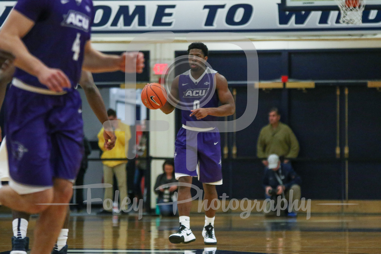 Abilene Christian Wildcats guard Jaylen Franklin (0)