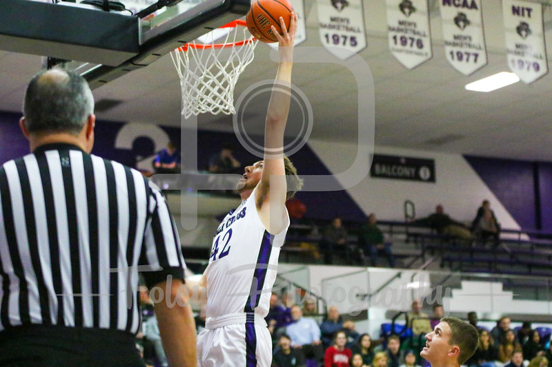 Holy Cross Crusaders center Matt Husek (42)